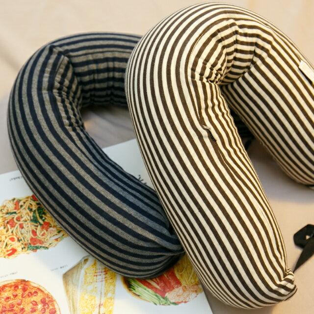 無印風格 線條頸枕(微粒) 紓壓/休息 便利實用 2色可選 8