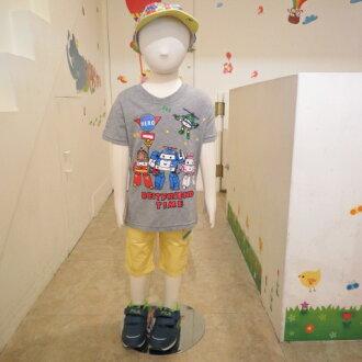 熱汽球潮流童裝~(限時優惠)男童POLI短袖上衣   灰色