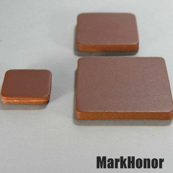 磁鐵 真皮皮革 咖啡 方邊長2公分-Mark Honor