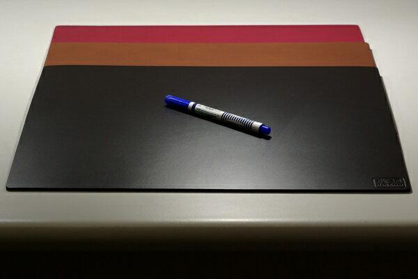 皮革牛皮皮製真皮桌墊皮桌墊大桌墊(黑)方邊長40公分*32公分-Mark Honor