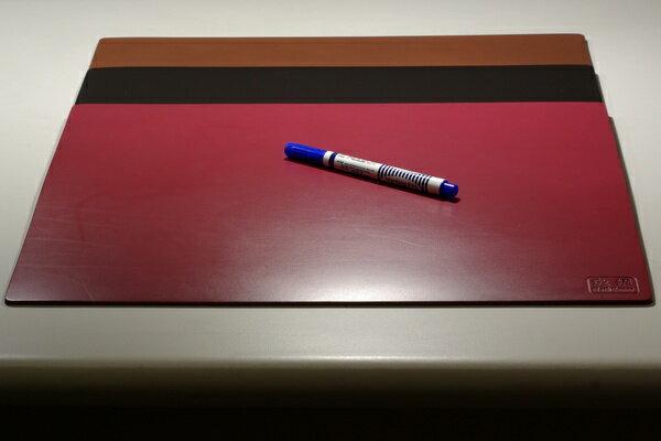 皮革牛皮皮製真皮桌墊皮桌墊大桌墊(酒紅)方邊長40公分*32公分-Mark Honor