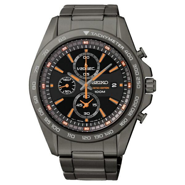 Seiko Spirit 7T92-0RN0O(SNDF81P1)極限競技限量計時腕錶/黑面44mm