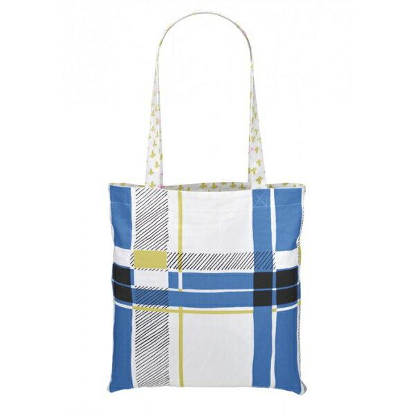 《法國 La Cocotte Paris》巴黎小散步雙面托特 /購物袋 Ochre Lysette Riko / Blue Tartan 1