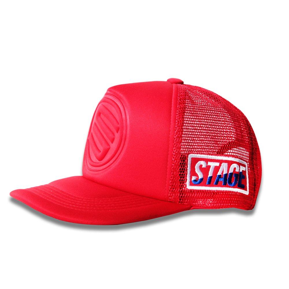 STAGE 3D LOGO MESH CAP 桃紅/深藍/黑/紅/寶藍 五色 5