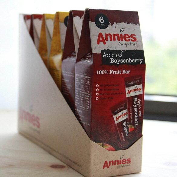 【壽滿趣- 紐西蘭原裝進口】Annies 全天然水果條(草莓/波森莓/百香芒果,任選 6盒共36片) 6
