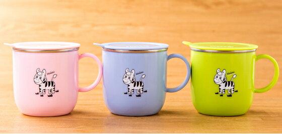 【晨光】斑馬Zebra 304不鏽鋼兒童馬克杯(附蓋子) (125409)【現貨】
