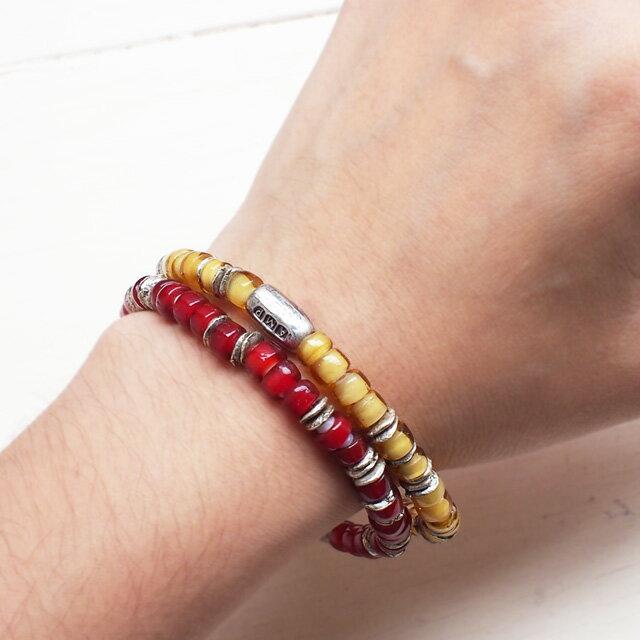 【海外訂購】【amp japan】White Heart 紅色玻璃珠手環(AMP-14AH-440RD  0782920000) 3