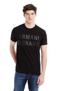 美國百分百【Armani Exchange】T恤 AX 短袖 T-shirt 圓領 凸字 logo 黑色 S號 F205