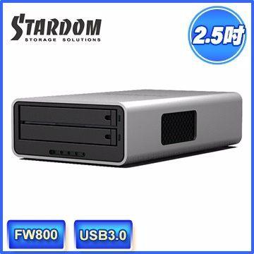 [NOVA成功3C] STARDOM MR2-WB3 USB3.0/FW800 2bay 2.5吋磁碟陣列設備(和順電通)BB喔!看呢來