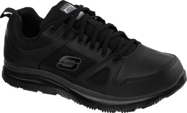 [陽光樂活] Skechers (男) 工作鞋系列Work Relaxed Fit Flex Slip Resistant-77040BLK 防觸電