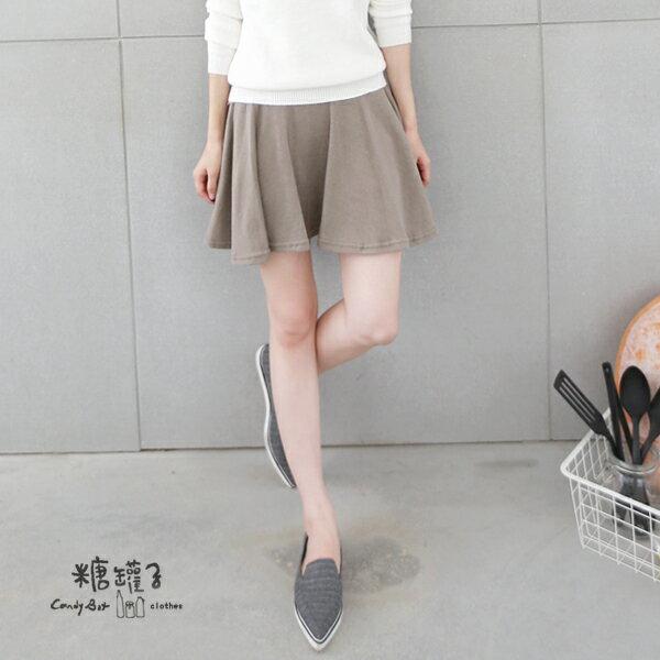 ★原價450五折225★糖罐子韓品‧純色縮腰褲裙→現貨+預購【KK4825】 2