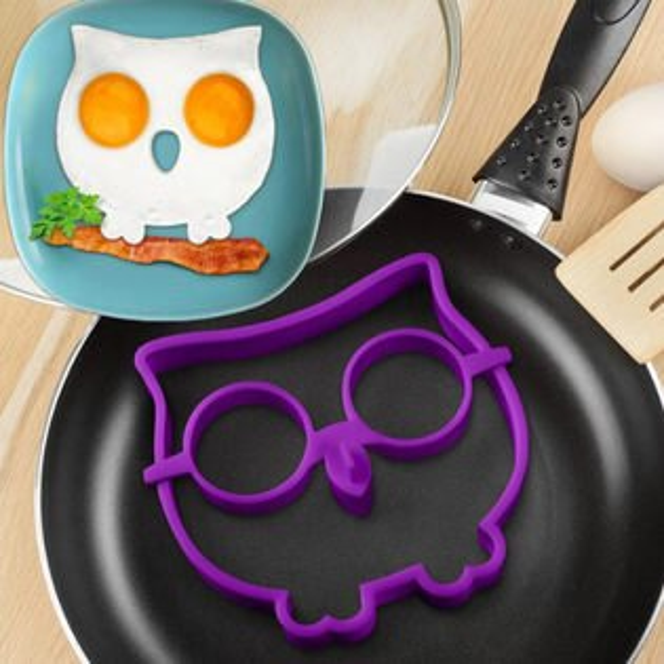 PS Mall 貓頭鷹造型環保矽膠煎蛋模具 可愛動物DIY煎蛋器 創意廚具【J2201】