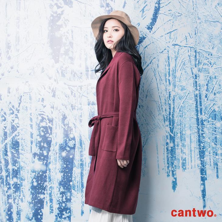 cantwo素色絲瓜領針織睡袍外套(共三色) 2