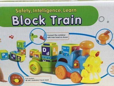 『121婦嬰用品館』雪印 ABC學習火車玩具(若將字母積木放入火車中會有A~Z的字母發音) 0