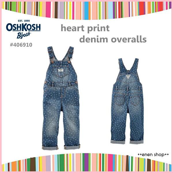 Enen Shop @OshKosh B'gosh 俏皮愛心款吊帶褲 ∥12M/18M/24M/2T/3T/4T/5T