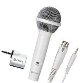 【音橋電子】CAROL 行動KTV麥克風轉接器 iCT-12歡唱組(珍珠白)-蘋果裝置專用版