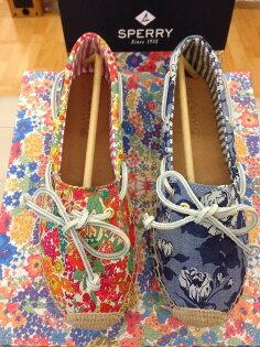【零碼出清4.5折,全館免運】《帆船鞋的始主~SPERRY》  經典帆船鞋 Sperry 與英國皇室級Liberty~限量聯名鞋款 ~  草編 休閒鞋