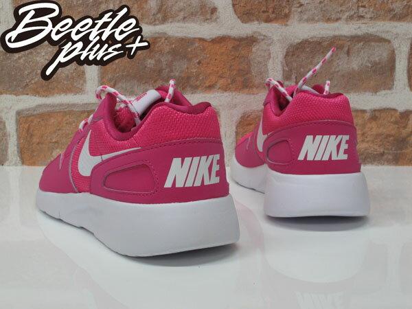 女生 BEETLE NIKE KAISHI RUN 粉紅 網布 透氣 輕量 粉底 白勾 慢跑鞋 705492-600 2