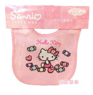 【真愛日本】16051300003防水幼兒圍兜-KT糖果粉   KITTY 凱蒂貓 三麗鷗 圍兜兜   嬰幼兒