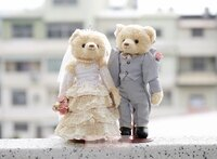 婚禮小物推薦到一定要幸福哦~~深情浪漫婚紗對熊(整組含支架) 、婚禮小物、生日禮、婚禮佈置