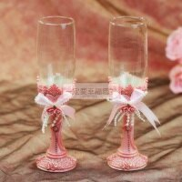 婚禮小物推薦到一定要幸福哦~~浪漫婚宴對杯、婚禮小物、婚禮佈置