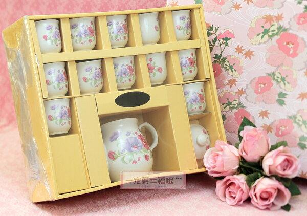 一定要幸福哦~~鬱金香茶具組(西式)、結婚用品、吃新娘茶、訂婚奉茶