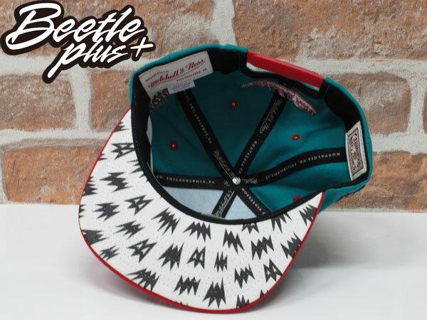 BEETLE PLUS 全新 MITCHELL&NESS X BAIT X NBA GRIZZLIES 溫哥華灰熊 湖水綠 紅 聯名 後扣棒球帽 2