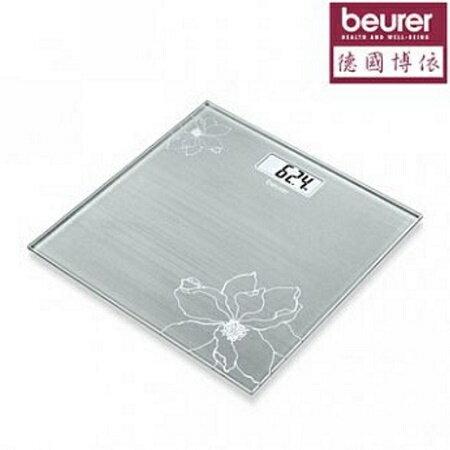 【德國博依beurer】典雅花卉玻璃體重計 GS10