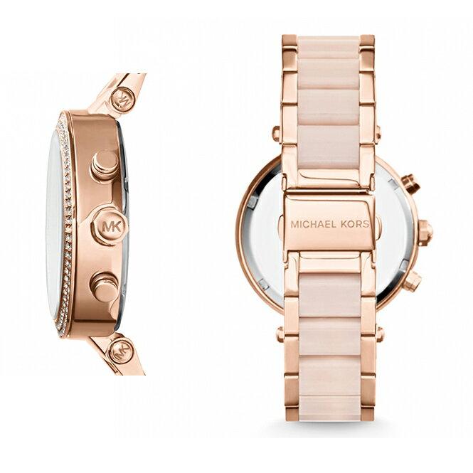 【限時8折 全店滿5000再9折】MichaelKors MK 粉玫瑰金 水鑽  陶瓷  三環 手錶 腕錶 MK5896 美國Outlet正品代購 5