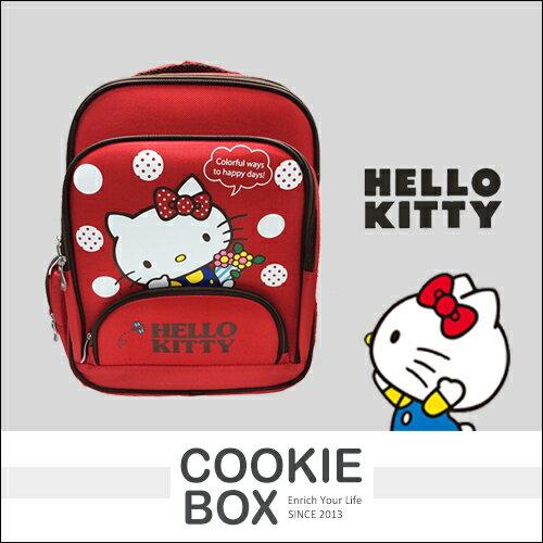 正版 HELLO KITTY EVA 雙層 書包 花束 三麗鷗 凱蒂貓 兒童 背包 收納 日本 吉祥物 授權 *餅乾盒子*