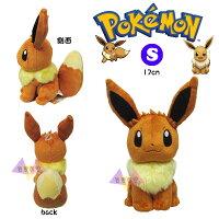 Pokemon:精靈寶可夢到叉叉日貨 神奇寶貝精靈寶可夢伊布坐姿絨毛娃娃玩偶20公分S號 日本正版【AL33178】
