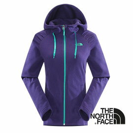 The North Face 女 刷毛保暖兜帽外套 石榴紫 CUK5
