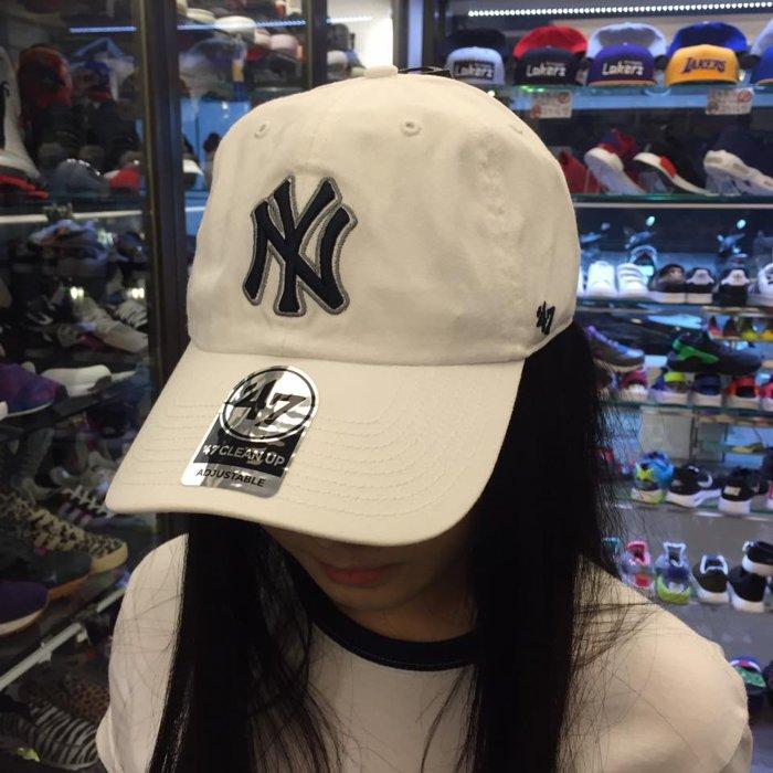 BEETLE 47 BRAND 老帽 紐約 洋基 NEW YORK YANKEES DAD HAT 大聯盟 全白 深藍 MN-389 2