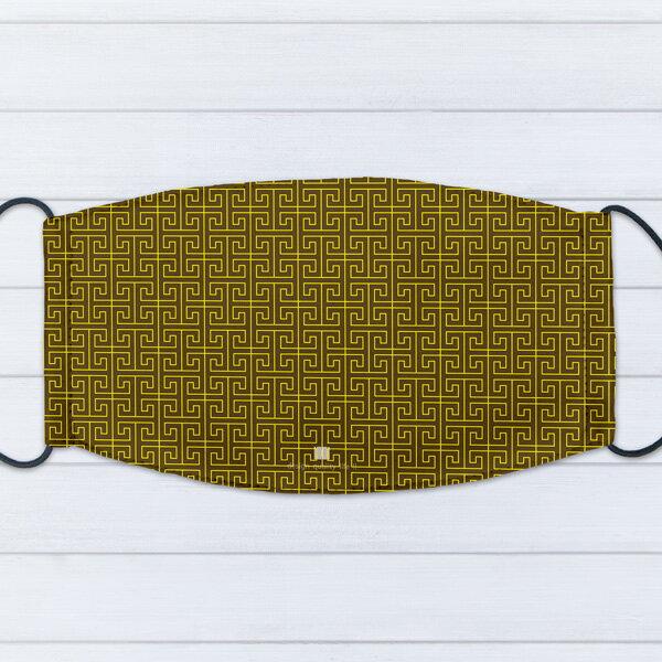 [ IHERMI ] 個性口罩 / 幾何金迷宮 / 愛好蜜 MIT台灣製造好安心 環保染劑使用 極細緻印染技術 0