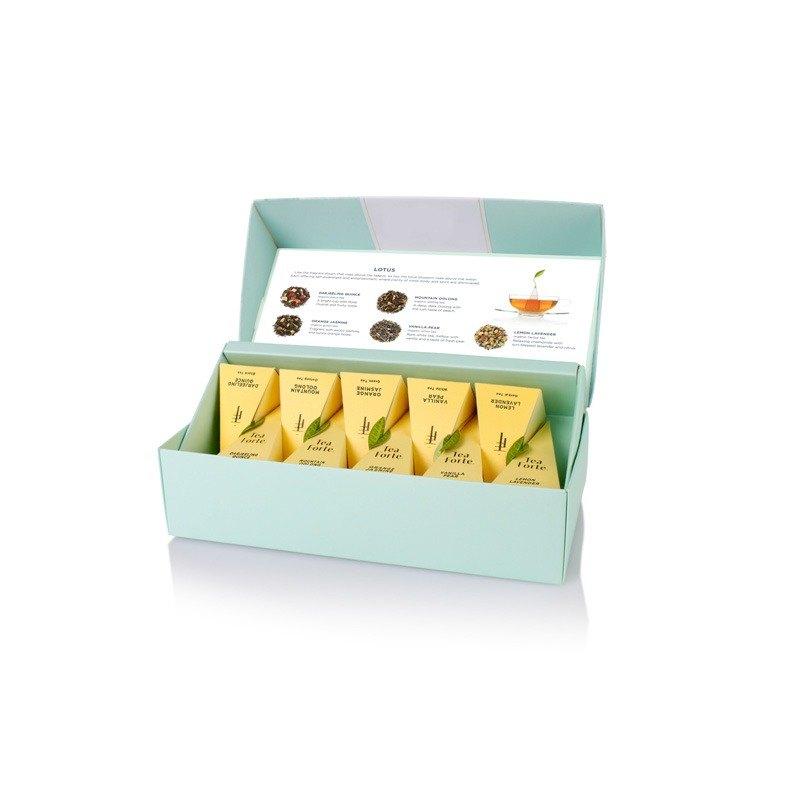 Tea Forte 10入金字塔絲質茶包 - 靜心蓮語 Lotus Petite Presentation Box 2
