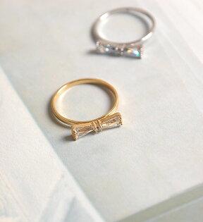 18Kgp Finish蝴蝶結指節戒尾戒Diamond Bow Midi Ring