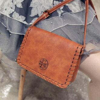 側背包-韓版編織復古系氣質小方包 包飾衣院 P1620 現貨+預購