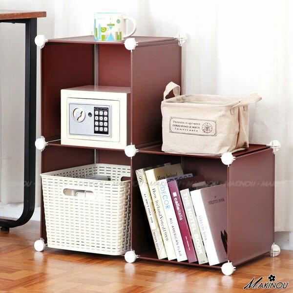 日本MAKINOU|單排3格魔術方塊收納櫃-無門-台灣製|衣櫥 鞋櫃 書櫃 牧野丁丁