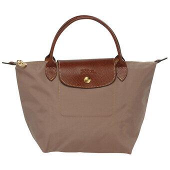 [短柄S號] 香檳金 國外Outlet代購正品 法國巴黎 Longchamp [1621-S號]  購物袋防水尼龍手提肩背水餃包