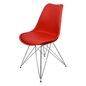 【尚優家居】朵妮拉休閒椅/餐椅/吧檯椅/造型椅/特餐椅 (紅色)