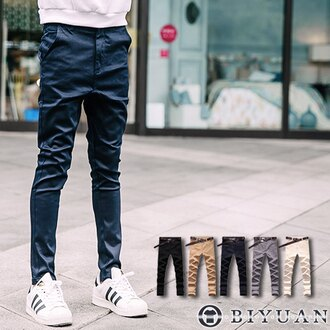 彈性哈倫褲【JN4008】OBI YUAN上寬下窄特殊低襠剪裁修身/休閒褲 共5色
