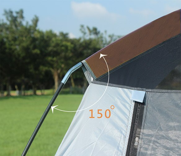 野樂全適能氣候帳,四門可全開,四邊都有大型延伸屋簷 ARC-642 野樂 Camping Ace 1