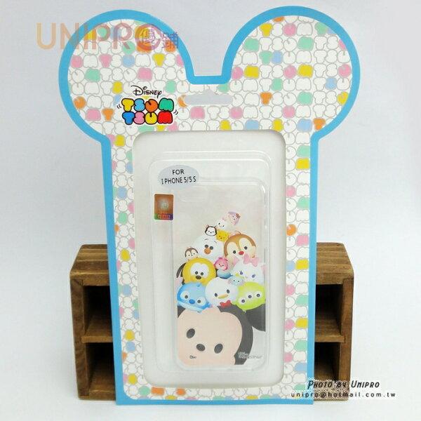 【UNIPRO】迪士尼正版 iPhone 5 5S Tsum Tsum 疊疊樂 史迪奇 小熊維尼 TPU 手機殼 i5