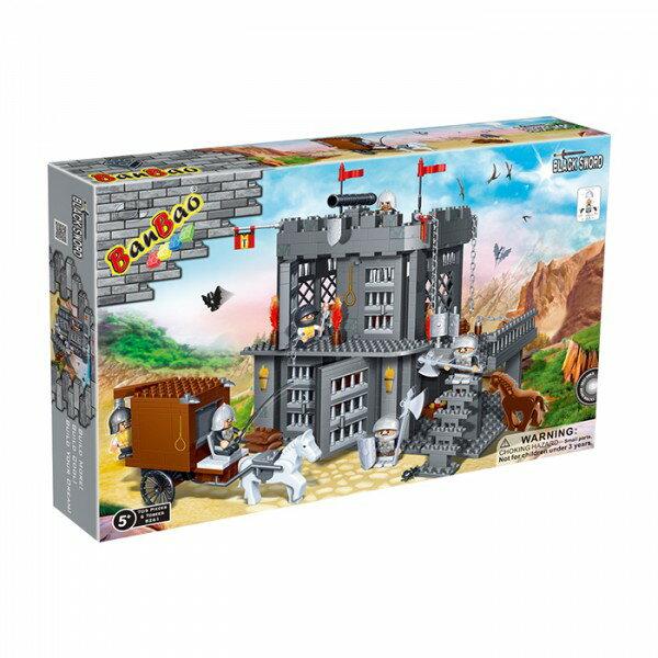 【BanBao 積木】城堡系列-牢房 8261  (樂高通用) (滿2000元再送積木回力車一盒)