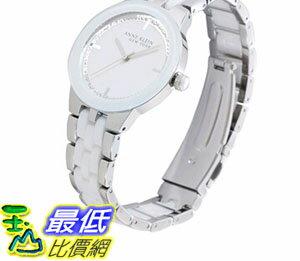 [COSCO代購如果沒搶到鄭重道歉] Anne Klein 白瓷錶帶石英女錶手鍊組 _W618907-B