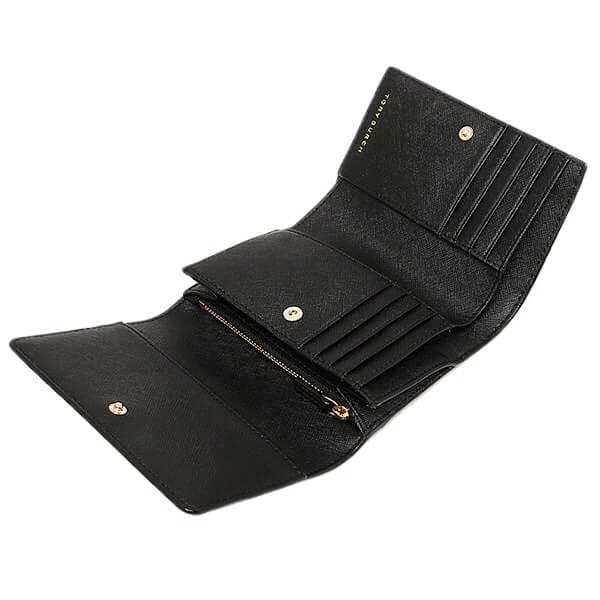 【Tory Burch】防刮簡約設計大容量中夾(黑/粉/藍) 7