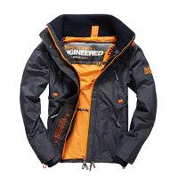 Superdry極度乾燥商品推薦美國百分百【Superdry】極度乾燥 Attacker 風衣 立領 外套 防風 夾克 刷毛 藍灰 螢光橙 M L XXL號 G332