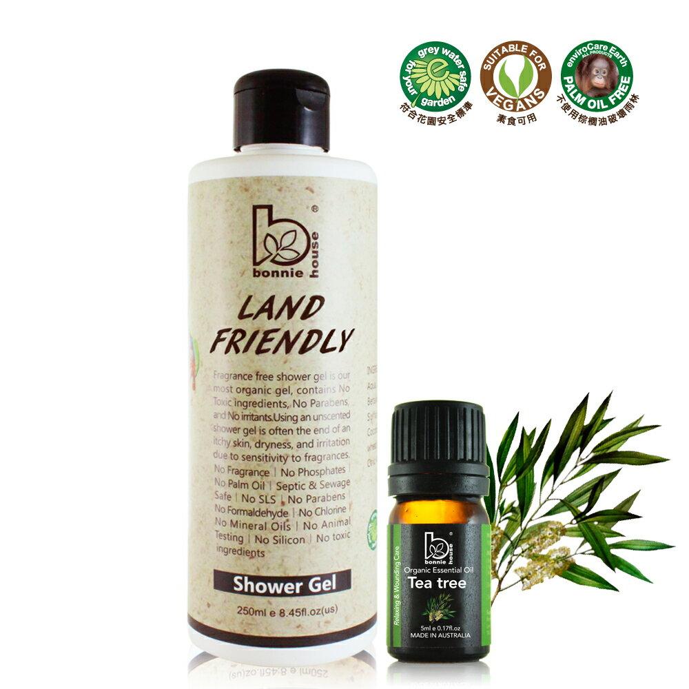零負擔親膚沐浴乳250ml+贈茶樹精油5ml 0