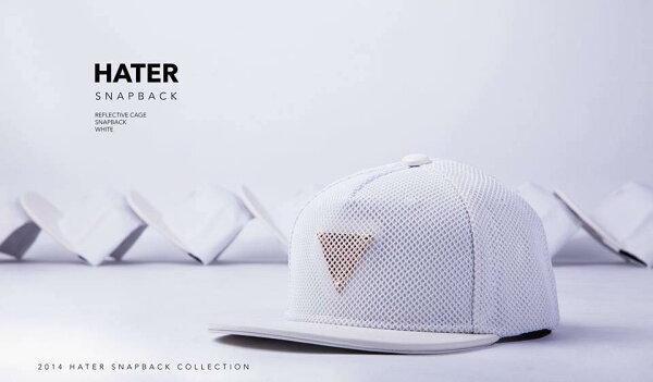 ►法西歐_桃園◄ HATer Snapback 反光陷阱棒球帽 白色 Bii 畢書盡代言著用款