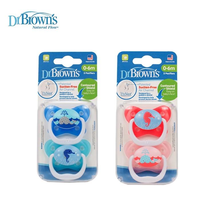Dr. Brown's布朗博士 - PreVent功能性人體工學安撫奶嘴 0-6個月 2入裝 0